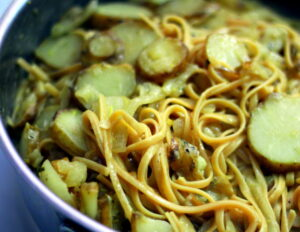 sunchokes and pasta