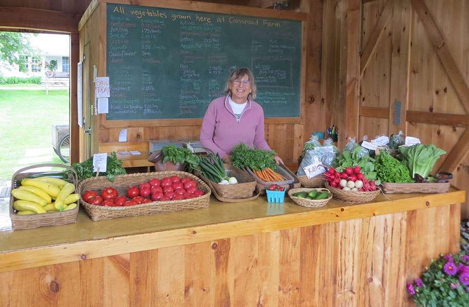 Janet in farmstand