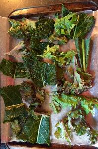 Freezing kale