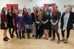 Door Prize winner Emily Gardner poses with Vital Communities Staff