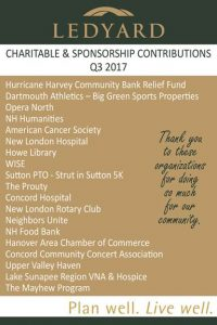 Ledyard charitavble giving