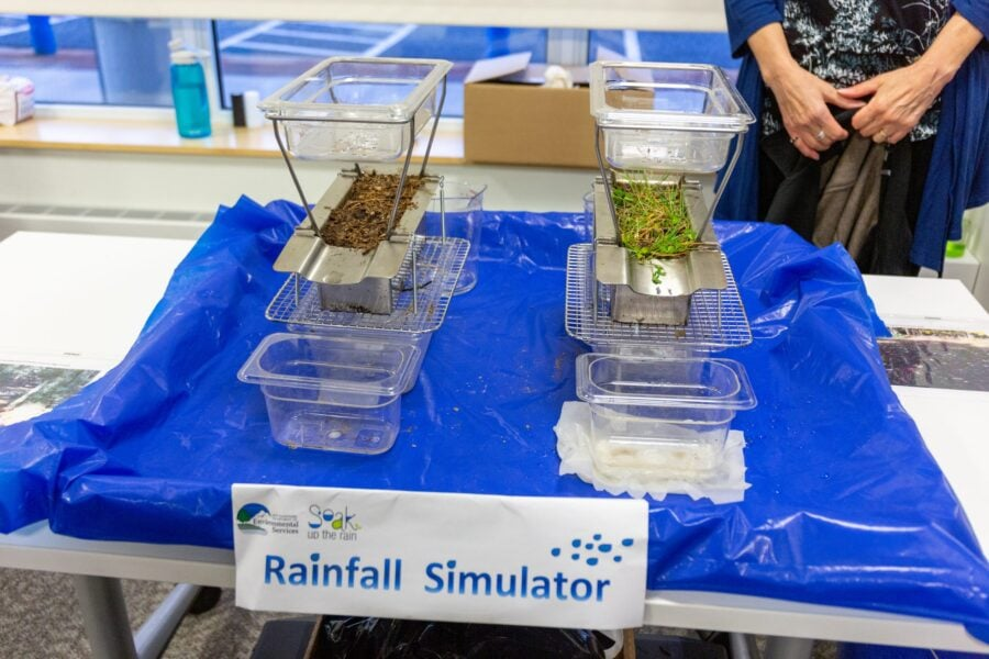Rainfall simulator at Hypertherm