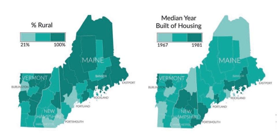 Energy burden graphic- Vermont, New Hampshire, Maine